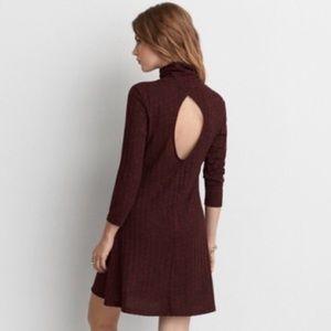 NWOT AEO Ribbed Turtleneck Dress